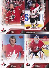 13-14 Team Canada Bill Barber /100 RED Exclusives Upper Deck 2013