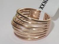 1414 stainless steel rose gold  no stone open dome chunky ring no tarnish womens