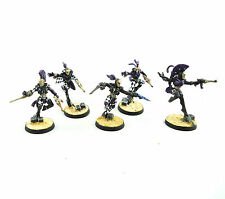 WARHAMMER 40K ARMY ELDAR HARLEQUINS X5 WELL  PAINTED AND BASED