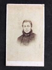 Victorian Carte De Visite CDV: Gentleman: Aiken: Cardiff: Curtain Beard