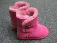 New Kids Childrens Ugg Boots Size UK 11 Aus 11-12 Pink Bailey Button RRP £125