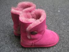 Nouveau Enfants Bottes UGG Taille UK 11 aus 11-12 Rose BAILEY BOUTON RRP £ 125