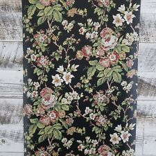 St Regis Fifth Avenue Vintage Victorian Cottage Black Gray Pink Floral Wallpaper