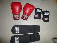 Youth Set Ringside 6oz Bag Gloves Combat Sports Gloves L & Xs Ring To Cage Shin