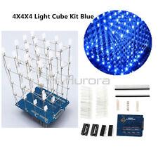 DIY Kit Blue 4X4X4 3D Light Cube Kit Arduino Shield LED Precise