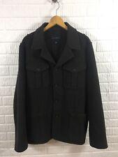 Banana Republic Mens Jacket Size XL Wool Blend Military Brown Coat