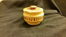 Merida Hand Crafted Carved Wood Bowl with Lid Vintage