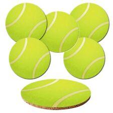"Untersetzer 6-tlg.Set ""Tennisball"" mit Korkrückseite - Bälle - Ball - Tennis"