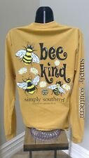 Simply Southern Long Sleeve T-Shirt: Bee Kind - Mustard