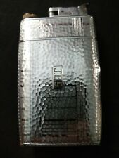 New listing Vintage Lighter And Cigarette Case Combo embossed stainless steel or chromed