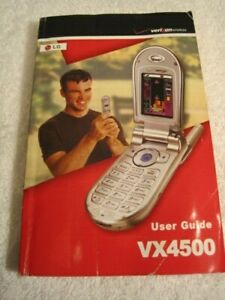 Manual only for LG VX4500  Metallic Silver Cellular Phone - Verizon Flip Phone
