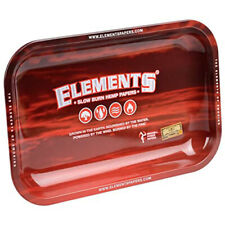ELEMENTS Red Metallic Rolling Tray 27.5 x 17.5 cm