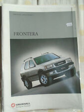 Vauxhall frontera GAMA FOLLETO 2000 Ed 1