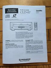 Owners Operating Instructions Manual For PIONEER ELITE CLD-97