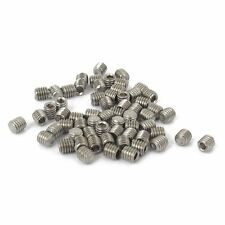 50pcs M3x3mm Stainless Steel Hex Socket Set Cap Point Grub Screws Silver J9N8