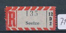 71198) Reco-Zettel AKZ 12D2 Seelze
