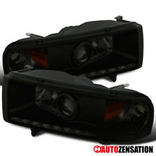 For 1994-2002 Dodge Ram 1500 2500 Black Smoke LED DRL Strip Projector Headlights