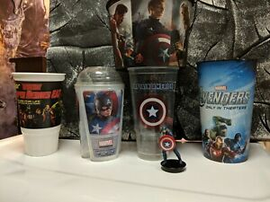 Captain America Avengers  Movie Dunkin Donuts Collector Cups Marvel 2011