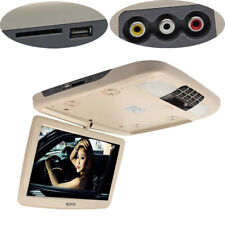 "12"" Flip Down LCD Monitor With DVD Player Car Roof Mount MP5 Player FM USB Beige"
