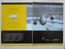 5/2001 PUB BOEING 777 AIRLINER GENERAL ELECTRIC ENGINES FLYER KITTY HAWK AD
