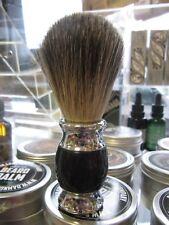 Rasierpinsel Dachshaar Sockel schwarz-Silber !!!