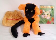 WOW! ON SALE NOW Red Ruffed Lemur Plush Animal & Story Booklet by PocketFuzzies