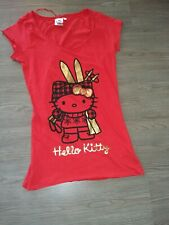 T-shirts rouge HELLO KITTY JENNYFER T S