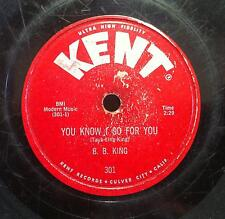 "1957 B.B. KING you know i go for you / why do everything happen to me 10"" VG- 78"