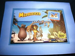 2005 Dreamworks Madagascar Limited Edition Lithograph Best Buy Exclusive