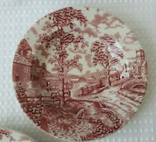 Royal Maddock England Ultra Vitrified Pink & White Bowl dinner soup dish £5 each