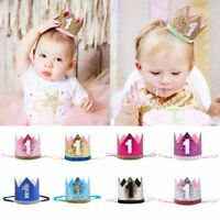 Baby 1 Year Old Birthday Flower Cone Princess Hat Crown Headwear Hairband Party