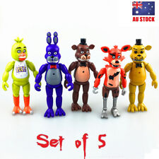 Five Nights At Freddy's FNAF Bonnie Chica Foxy Bear 5 PCS Action Figure Kids Toy