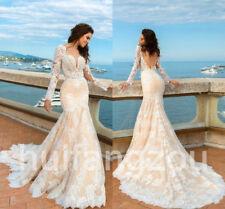 New White/ivory Mermaid Wedding Dress custom size 6-8-10-12-14-16 18 Plus Orange