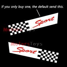 High Quality JDM Sport Tartan Grid Black White Flag Vinyl Car Sticker Decal x1