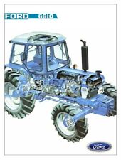 FORD TRACTOR 6610 CUTAWAY NEW HOLLAND SALES BROCHURE/POSTER ADVERT A3