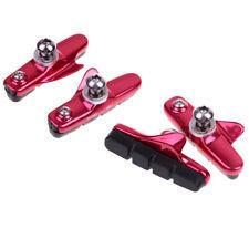 4x Brake Pads Blocks Shoes Road Bike Fixed Gear Bicycle Braking Pad 55mm Red