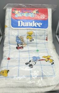 New Vintage Dundee Disney Babies Mickey Minnie Quilted Blanket 36x43