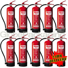 10 x NEW 6 LITRE WATER FIRE EXTINGUISHERS 6L WAREHOUSE OFFICE WORKSHOP *24HRS*