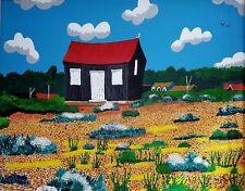 RED HUT RYE HARBOUR LIMITED EDITION PRINT BY MICHAEL PRESTON