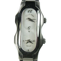 PHILIP STEIN - TESLAR NATURAL FREQUENCY dual time women's watch - Leather strap