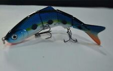 "New 10cm ""Killer Crank"" Platinum Bluey Jointed Fishing Lure. 15g"