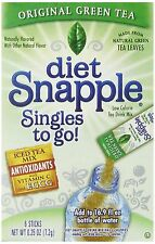 Diet Snapple Singles To Go Green Tea Pack of 12