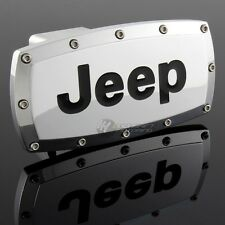 "JEEP Tow Hitch Cover Plug Cap 2"" Trailer Receiver Engraved Billet Allen Bolts"