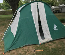 Vintage HILLARY Canvas Tent 9' X 11' Family Camping Cabin Tent Model 308  Zipper