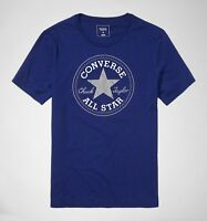 CONVERSE all star mens chuck patch t shirt top BLUE cotton XS  S  MEDIUM LARGE