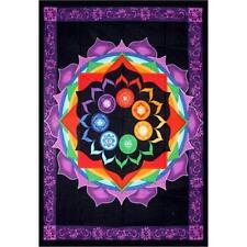 Rainbow Chakra Cotton Tapestry!