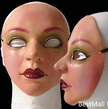 Female Mask Latex Silicone Ex Machina Realistic Human Skin Masks Halloween Dance