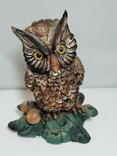 hibou sur branche, chouette figurine de collection 13 cm         *P1