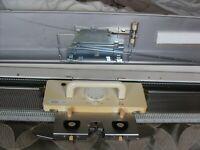 Studio sk 860 mid gauge( 6.5mm needle spacing) knitting machine.