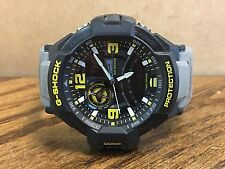 CLEAN! Men's Casio G-Shock Watch GA-1000 5302 Black/Grey/Yellow Free Shipping!